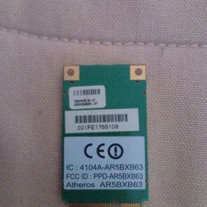 Ασύρματη κάρτα δικτύου για Laptop - ATHEROS 4104A-AR5BXB63 WIFI WIRELESS MINI-PCI 802.11BG NETWORK CARD