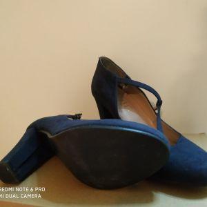 Γυναικείες γόβες μπλε σκούρο- Ellen Collection
