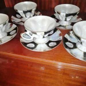 σερβίτσιο για καφέ κ τσάι από πορσελάνη