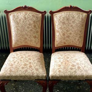 Καρέκλες του 1950 μασίφ σκελετός σε άριστη κατάσταση