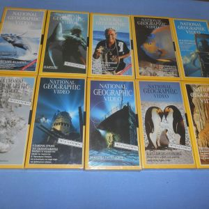 NATIONAL GEOGRAPHIC 10 VHS Z3