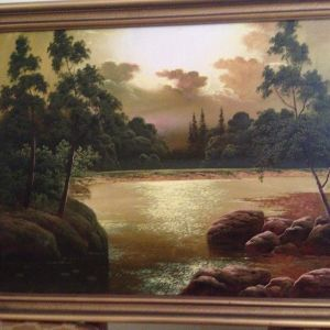Πίνακας  Ρώσου   Ζωγράφου   MΠOΡΟΒΣΚΙΗ  Α.(Διαστάσεις  78  χ   58   cm)