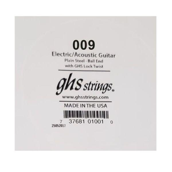 set 10 chordon GHS Plain Steel 009