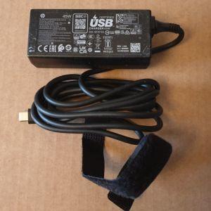 Τροφοδοτικό HP Type-C 45Watt ελάχιστα χρησιμοποιημένο.