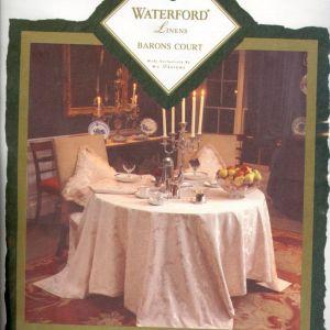 Καινούργιο Σετ Waterford W-C Designs Τραπεζομάντηλο Ροτόντα Λευκό & 12 Πετσέτες Φαγητού