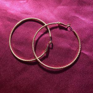Σκουλαρίκια Κρίκοι Oxette / rose gold