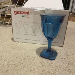 Guzzini 12 ποτήρια μπλέ - πλαστικά , καινούρια, αχρησιμοποίητα