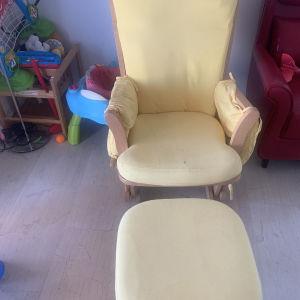 Καρέκλα θηλασμού με σκαμπό