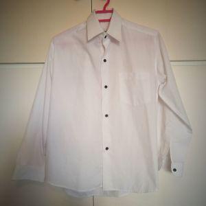 λευκό ανδρικό πουκάμισο medium