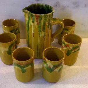 Κεραμική κανάτα με 6 ποτήρια ( Ι )