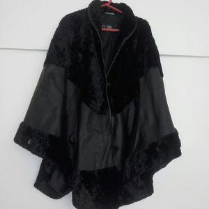 Ιταλικό παλτό από αληθινό δέρμα καινούριο