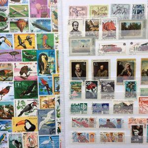Μικρη συλλογη διαφορετικων γραμματοσημων Ρωσια-Νορβηγια
