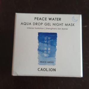 Peace water aqua drop gel night mask Caolion