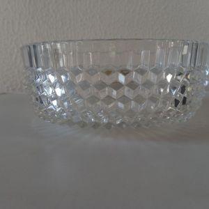 Φοντανιερα vintage του 60 κρύσταλλο BOHEMIA,Made in Czechoslovakia,διαμετρο 20cm,8cm υψος,στο κουτί