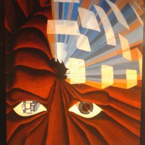 πίνακες ζωγραφικης . λαδι [80χ100] 1980 . ζωγραφος αντωνης στεφανακος