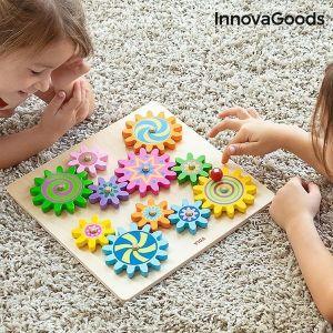 Ξύλινο Παιχνίδι με Γρανάζι Engenius InnovaGoods 12 τεμάχια