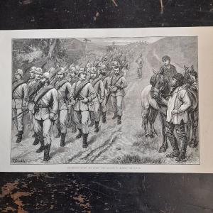 Γκραβουρα του 1880 Marching to Brighton