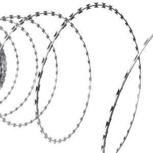 Αγκαθωτό Σύρμα Τύπου ΝΑΤΟ από Γαλβανισμένο Χάλυβα Ρολό 100 m-141075