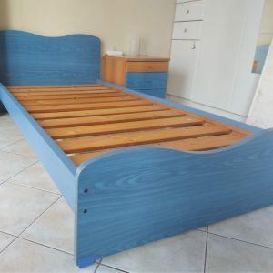 Κρεβάτι Μονό NEOSET σε μπλε χρώμα