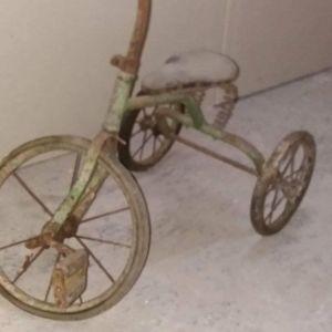 rare Antique child bicycle.