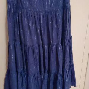 ΤΙΜΗ ΣΟΚ Vintage boho φούστα με ασημοκλωστή La redoute