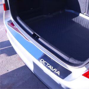 SKODA OCTAVIA 3 2013 & UP 4D προστατευτικό πίσω προφυλακτήρα ανοξείδωτο 1 Τεμ.
