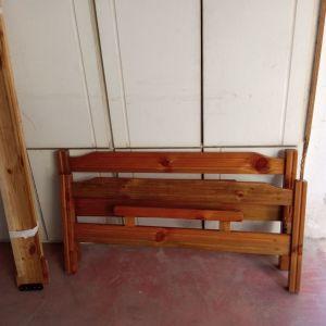 Κρεβάτι ημιδιπλο ξύλινο Σουηδικο