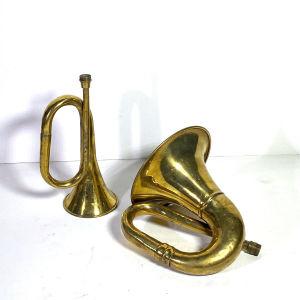Χάλκινα πνευστά διακοσμητικά όργανα παλαιά .Τιμή για 1 τεμάχιο
