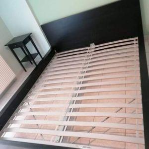 Κρεβάτι Ikea Malm 160*2, με κομοδίνα