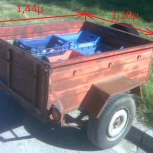 τρέιλερ αποσκευών με έγκριση τύπου/άδεια ρυμούλκησης