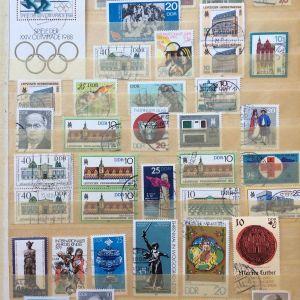 Συλλογη γραμματοσημων Γερμανιας και διαφορων χωρων Ασιας
