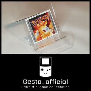 Pokemon Yellow ανταλλακτικό αυτοκόλλητο για την κασέτα Gesto_official