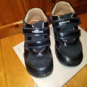 Geox δερματινο παπουτσακι για κοριτσια νουμερο 25 μπλε με στρασακια