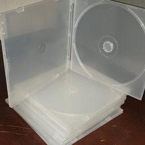 ΘΗΚΕΣ ΓΙΑ CD-DVD PP SLIM 5mm ΔΙΑΦΑΝΕΙΣ  50 τεμ