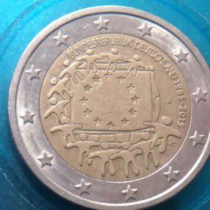 δυο κερματα  2  ΕΥΡΩ..30ή επέτειος της σημαίας της ΕΕ