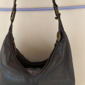 Nine West, δερμάτινη τσάντα σε άριστη κατάσταση, καφέ