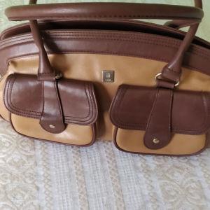 Vintage Kem διχρωμη τσάντα.