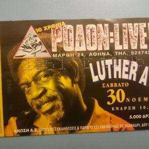 Εισητήριο Luther Allison + υπογεγραμμένο Playlist 1996