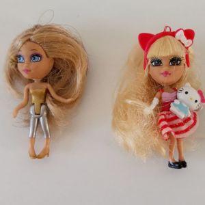 2 mini Barbie ring doll matel