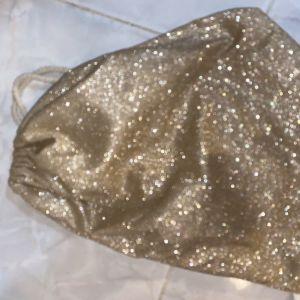 τσάντα ομού με γκλιτερ χρυσό