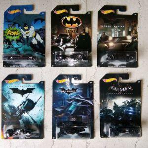 Συλλογή Batmobiles Hot Wheels