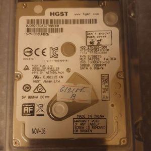 """HDD HGST 500GB 2,5"""""""