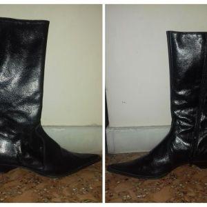 δέρμα μπότες 37 παπούτσια γυναικεία