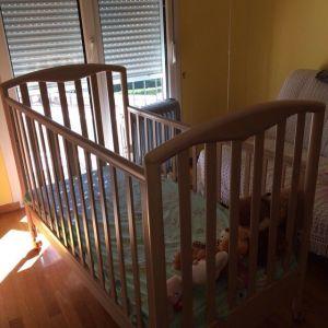 Κρεβάτι μωρού με στρώμα.Pali