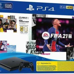 Sony PlayStation 4 Slim 500GB & FIFA 21 & FUT 21 Voucher & PS Plus 14 Day Voucher (PS719829621)