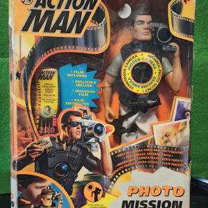 "Action Man Hasbro 1998 RARE FIGURE ""Photo Mission"" Βγάζει φωτογραφιες Συλλεκτική Σπάνια Φιγούρα"