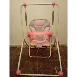 ροζ κούνια για παιδάκια μέχρι 3 χρονών