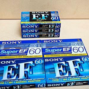 Κασέτες ήχου σφραγισμένες, Sony EF60, 7 τεμάχια
