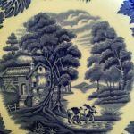 Vintage αυθεντικό συλλεκτικό πορσελάνινο πιάτο Woods Ware Αγγλίας, Wood & Sons