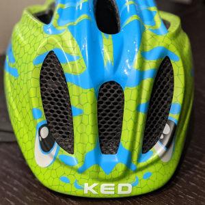 Κράνος παιδικό KED Meggy Trend Dino light blue green, 49-55cm